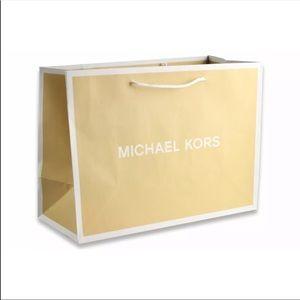 Michael kors large retail paper bag